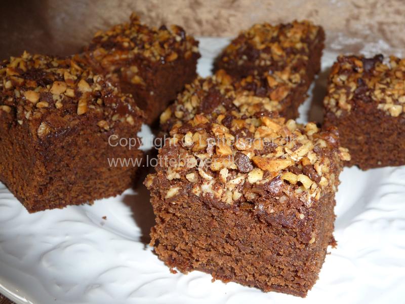 Brownies Med Nøddetop Og Bailey Bageopskrift Lottebagerdk