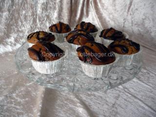 Bananmuffins med chokolade | Bageopskrifter, kageopskrifter og opskrifter på tærte m.m.