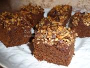 Brownies med nøddetop og Bailey | Lottebager.dk | Bageopskrifter, kageopskrifter og opskrifter på tærte m.m.