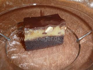 Konfekt kage med karamel og hasselnødder | Bageopskrifter, kageopskrifter og opskrifter på tærte m.m.