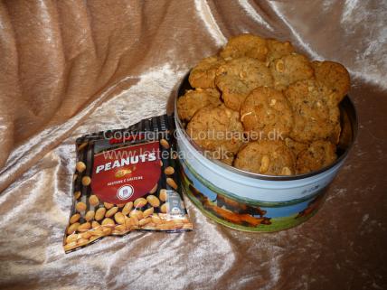 Peanut cookies | Lottebager.dk | Bageopskrifter, kageopskrifter og opskrifter på tærte m.m.