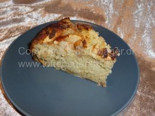 Bagt æblekage med kanel og marcipan | Bageopskrifter, kageopskrifter og opskrifter på tærte m.m.