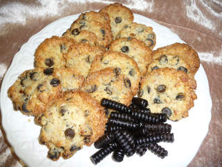 Lakrids cookies | Lottebager.dk | Bageopskrifter, kageopskrifter og opskrifter på tærte m.m.