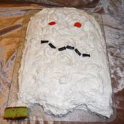 Halloween spøgelseskage - bageopskrift