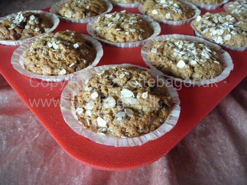 Opskrift Muffins Med Havre Og Chokolade Bageopskrifter