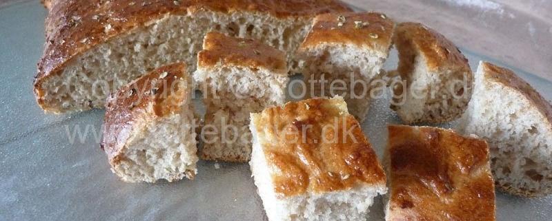 Oregano brød - bageopskrift